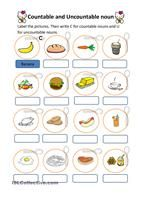 Three exercises for practicing the use of countable and uncountable nouns. Key is included. Thank you!!! - ESL worksheets