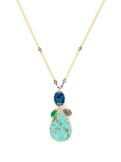 Long Multi-Stone Pendant Necklace by Indulgems on Gilt.com
