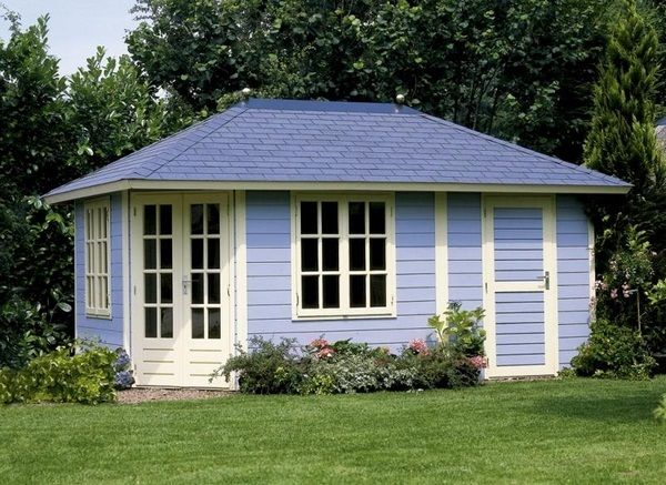 Garden Sheds Rutherglen log cabin in the garden – functional additional to outdoor - http