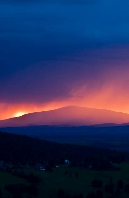 Beskydy Mountains at Sunset, Poland