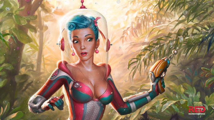Sugar space - jungle, George Redreev on ArtStation at https://www.artstation.com/artwork/sugar-space-jungle