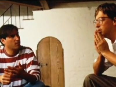 Steve Jobs and Bill Gates in an early encounter