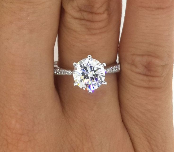 2.00 CT ROUND CUT D/SI1 DIAMOND SOLITAIRE ENGAGEMENT RING 14K WHITE GOLD | Jewelry & Watches, Engagement & Wedding, Engagement Rings | eBay!