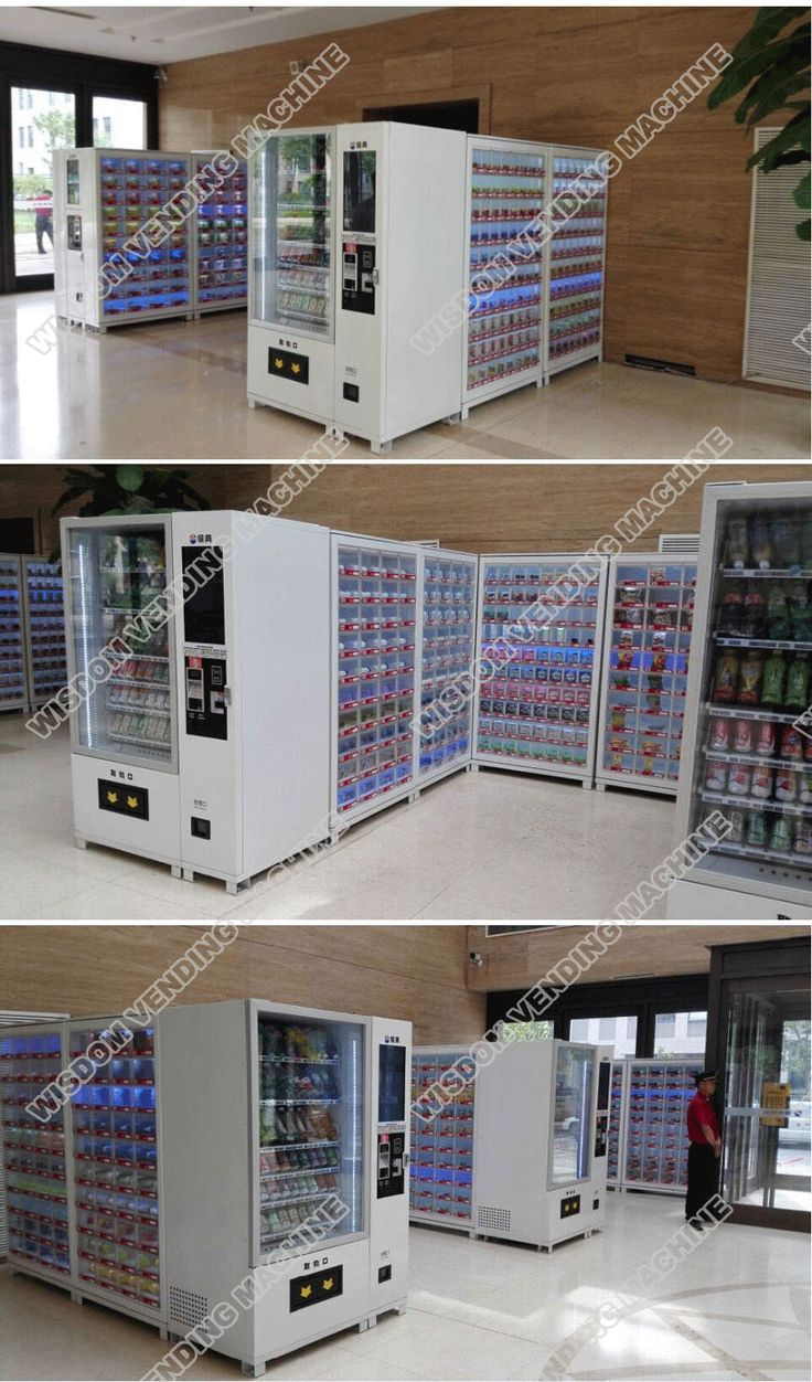 Box vending machine with cooling system