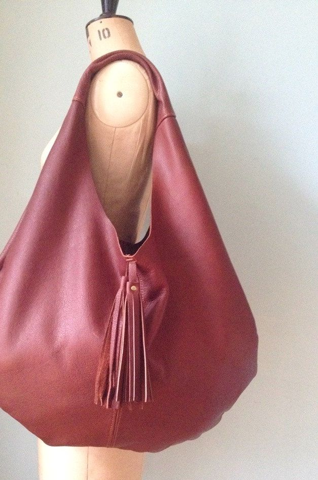 Brown leather hobo bag tan leather slouch bag by GingerandBrown