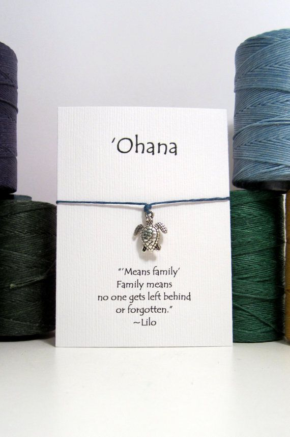 Ohana Sea Turtle  Wish Bracelet by HooMeDesigns on Etsy
