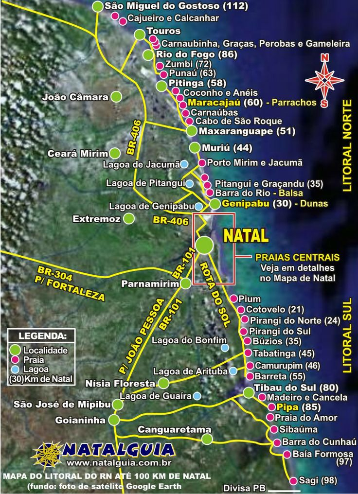 Natal and the State of Rio Grande do Norte have over 250 miles of beautiful, beach coastline.