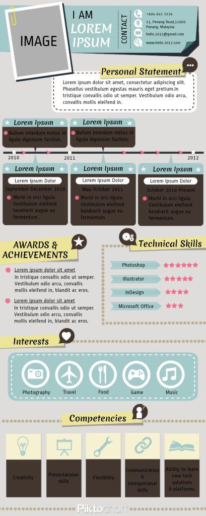 cv2 piktochart infographics craft ideas
