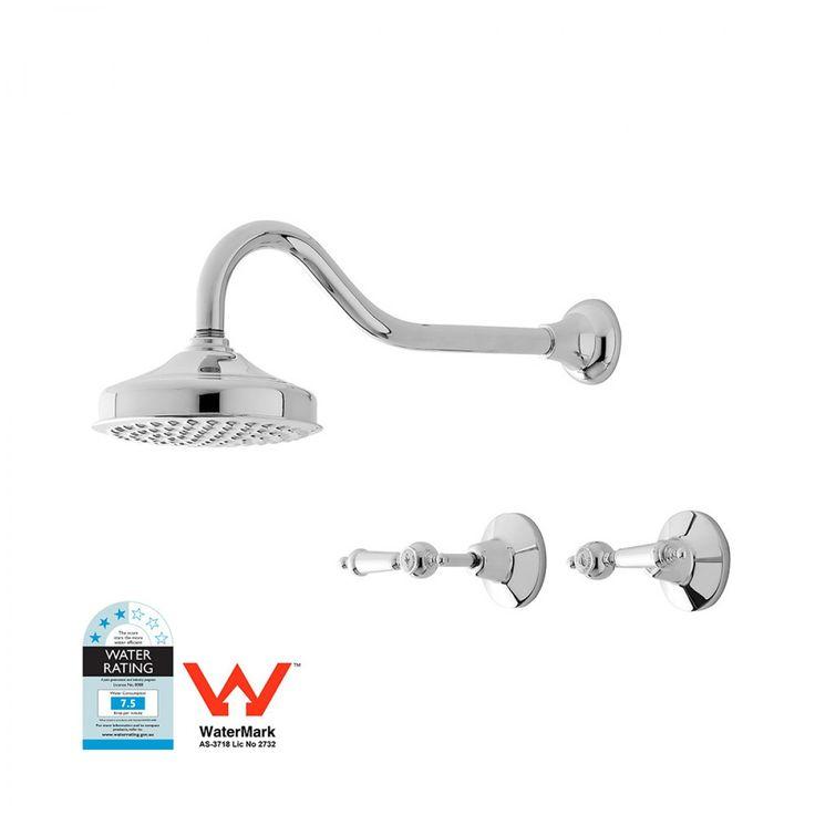 Rochelle Lever 6in Shower Set Chrome - Tapware - Bathroom