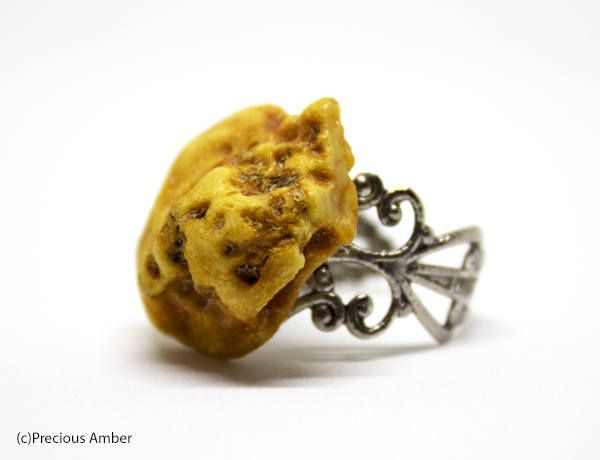 Baltic amber ring raw amber unique adjustable amber ring natural amber ring by PreciousAmber on Etsy