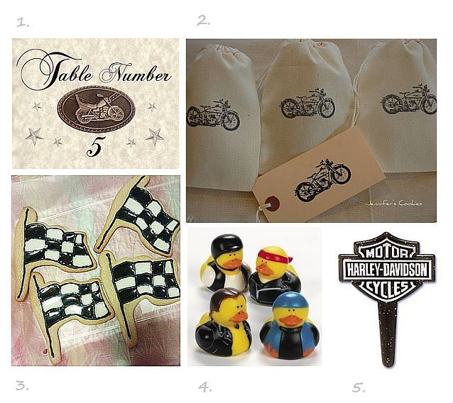Motorcycle Wedding Favors