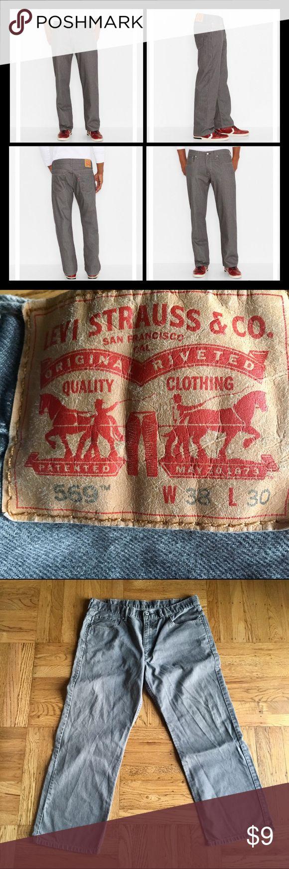 "Men   EUC Levi's 569 Loose Straight Jeans / 38x30 Men   EUC Levi 569 'Loose Straight' fit grey colored jeans in a size 38"" waist and 30"" length. Levi's Jeans Straight"