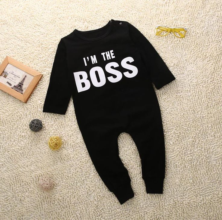 I'm The Boss Baby Boy Long Sleeve Onsie Jumpsuit