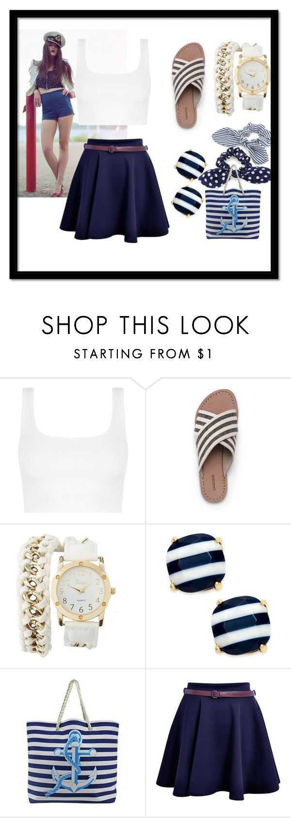 """""""Untitled #203"""" by frupapp on Polyvore featuring Lands' End, Charlotte Russe and Kate Spade"""