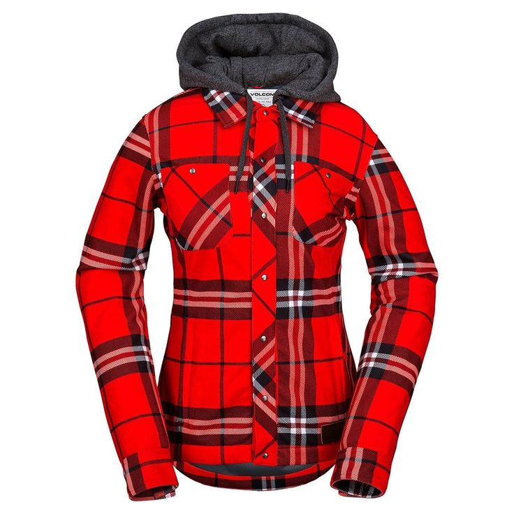 Flannel is always good. Stretch, waterproof flannel? That's genius. With its slim fit, stretch fabric, hand warmer pockets, and attached hood, the Circle Flanne