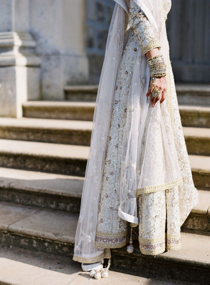 White Bridal Lehenga | Preena + Matt | South Asian Wedding Blog | Think Shaadi