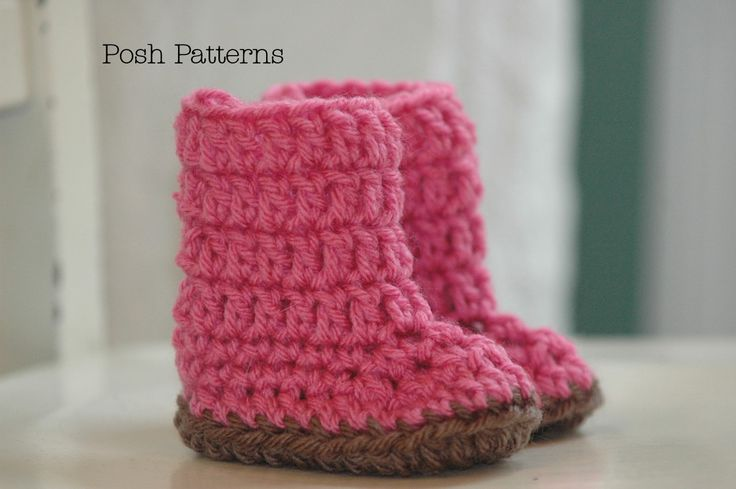 Easy Crochet Patterns Product | Crochet Pattern Easy Baby Boots Slippers | Sizes Newborn to 12 Months