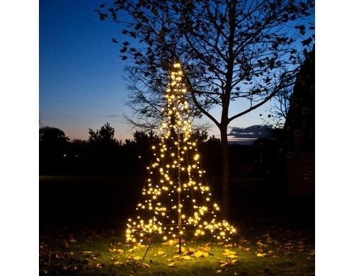 Perfect LED Weihnachtsbaumform outdoor Fairybell CM LED beleuchteter Weihnachtsbaum inkl Glasfasermast LED