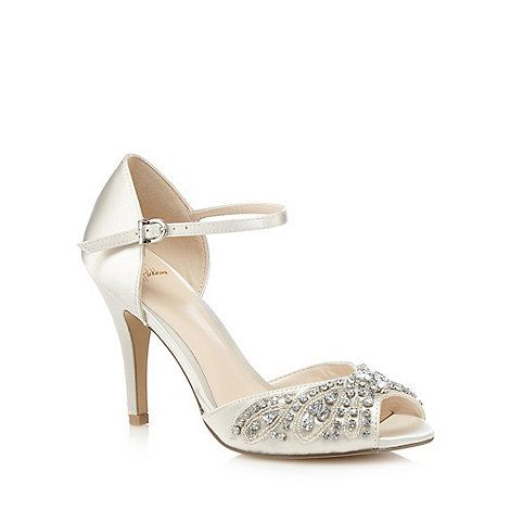 No. 1 Jenny Packham Ivory jewel embellished stiletto sandals- | Debenhams