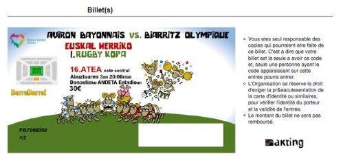 1ère Coupe du Pays Basque - Match de rugby au stade Anoeta de San Sebastian.