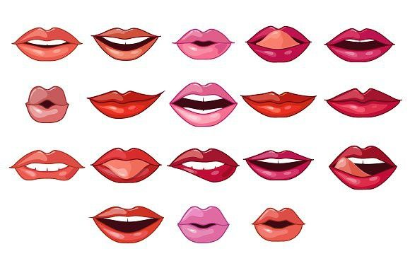 Lips Expressions And Shapes Female Lipstick Red Lips Red Lip