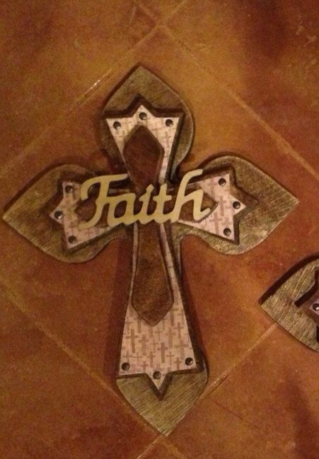 Large Stained Faith Wood Cross by SignsBYDebbieHess on Etsy, $35.00