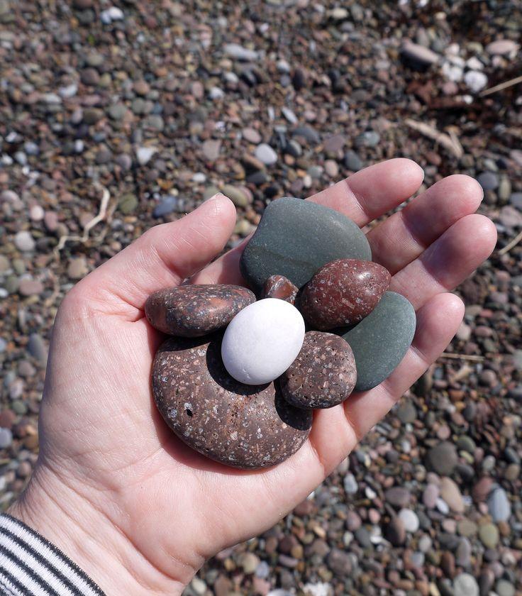 Pretty stones from a pebble beach on Port-aux-Port peninsula, Newfoundland