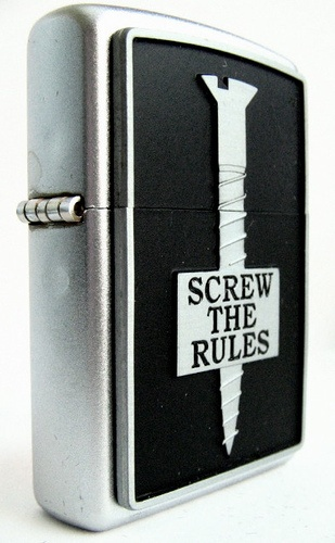 Screw the Rules Zippo Lighter
