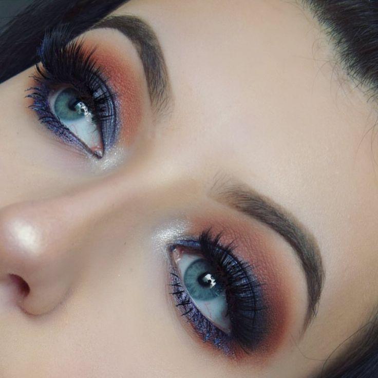 "Olivia  Manson (@meraki.makeup.art) on Instagram: ""*listens to Ladytron once* • • • • • #bblog #bblogger #beautyblog #beautyblogger #creativemakeup…"" smokey eye makeup look lashes brows"