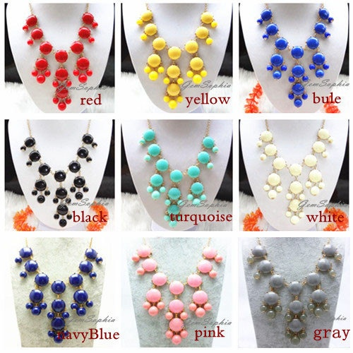 Etsy Bubble Necklaces $6.00; and lots of other adorable statement necklaces...just bought 2