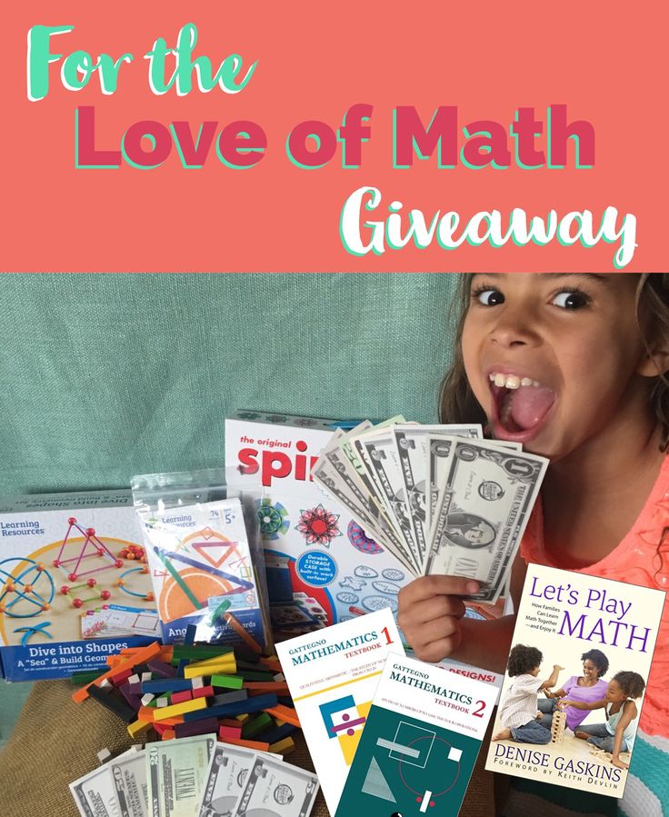 For the Love of Math Giveaway! - Play Discover Learn 24/7  OVER $350 IN PRIZES  Play money, Math Manipulatives for Math Discovery, Anglegs, Spirograph sets, Cuisenaire Rods, Free Textbooks and Let's Play Math from Denise Gaskin!  Let's show kids how exciting math is!