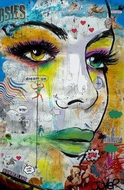 "Saatchi Online Artist Loui Jover; Drawing, ""wonderland"" #art"