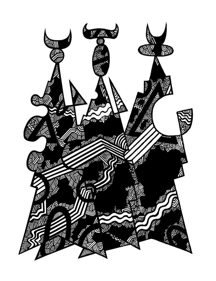 Экспрессия. #картина #craftsman #designer #picture #художник #artist #чувства #feelings #эмоции #emotions #painter #графика #knight #drawing #illustration #abstract #expressionism #абстракция #экспрессионизм #expression #экспрессия #композиция #composition #graphics #рисунок #ручкой #drawing #pen #painting #art #artwork #искусство #modernism #модернизм #крик #scream #линии #lines #черно #белое #black #white #мозаика #mosaic
