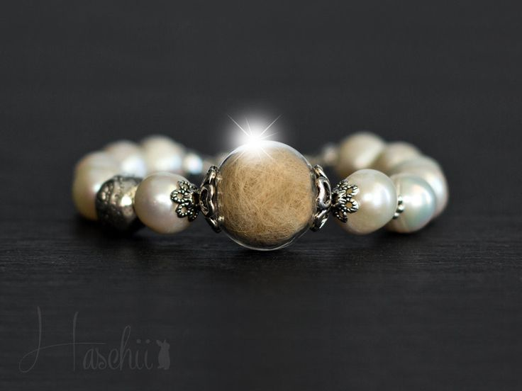 Weiteres - Tierhaar Armband - echte Perlen Tierfellarmband - ein Designerstück von Haschii bei DaWanda