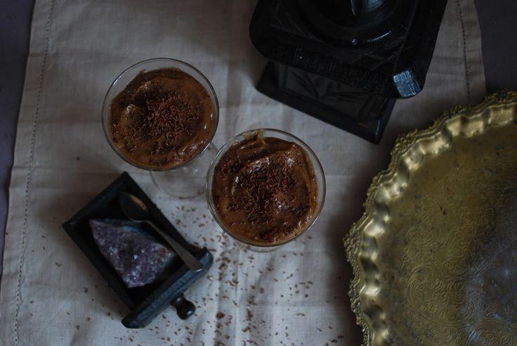 Raw vegan chocolate mousse.