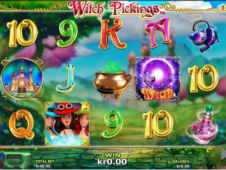 Know About Bonus Symbols  Witch Picking appears to have as much as 10 symbols and 2 special symbols. Here are the total symbols:     Wild and Scatter symbols   There are 10 symbols along with regular card symbols from 9 to Ace.    Ways to Score a Win Witch Picking  Witch Picking game contains 25 paylines, and covers about 5 reels. http://free-slots-no-download.com/nextgen-gaming/9313-witch-pickings/