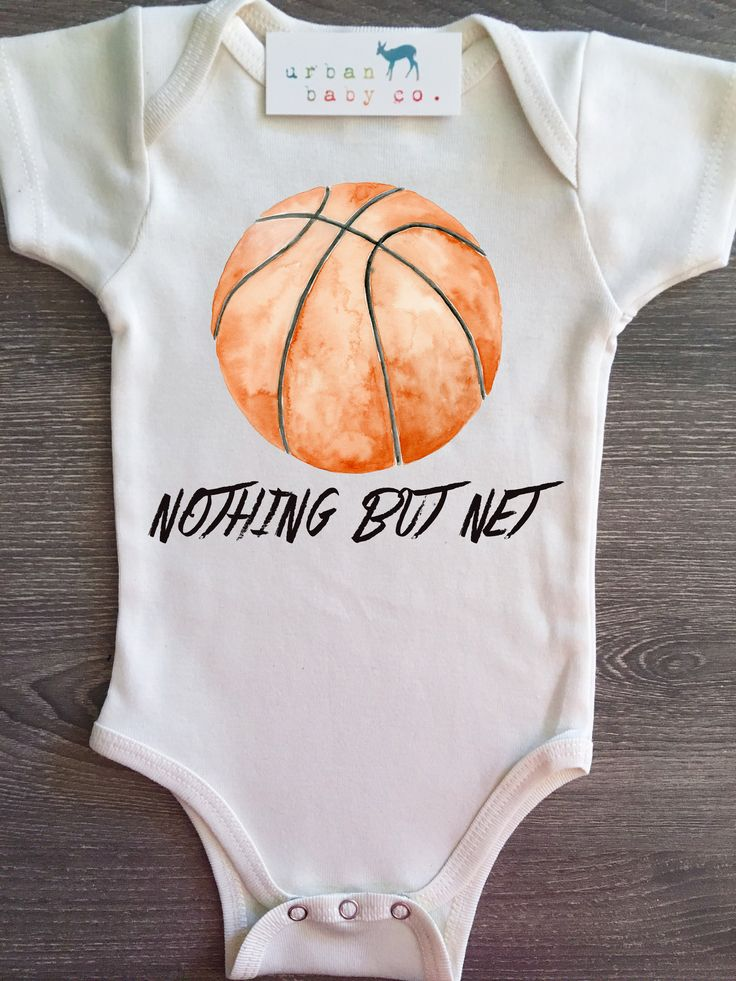 Nothing But Net, Basketball, Baby, Boy, Girl, Unisex, Gender Neutral, Infant, Toddler, Newborn, Organic, Bodysuit, Outfit, One Piece, Onesie®, Onsie®, Tee, Layette, Onezie®