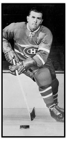 Maurice Richard en possession de la rondelle Canadiens de Montréal Go Habs Go !!