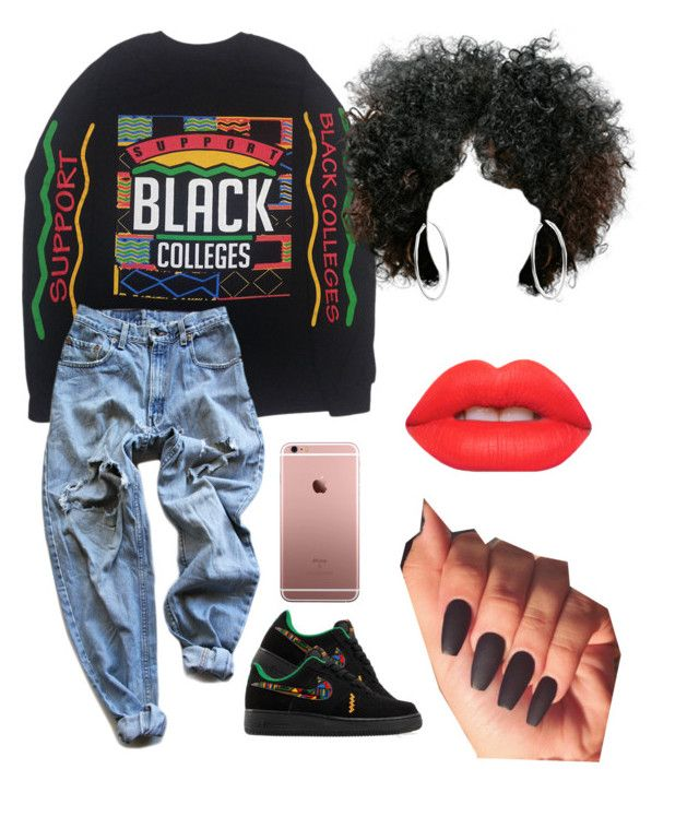 """""""#178:Black Lives Matter✊"""" by tyyanniharris ❤ liked on Polyvore featuring NIKE, Levi's, Michael Kors and Lime Crime"""