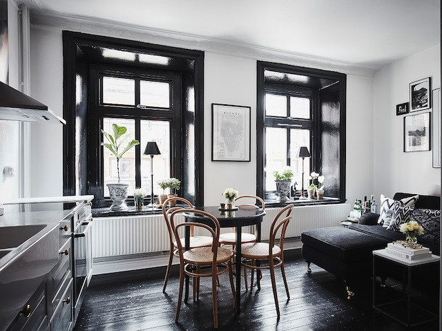 a swedish home with dramatic black accents | anders bergstedt via my scandinavian home