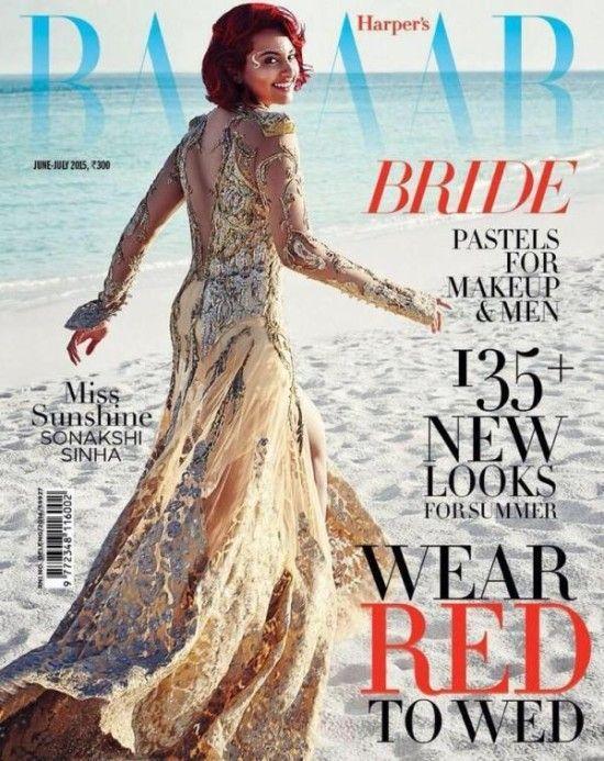 #SonakshiSinha Sizzles On The Cover Of Harper's Bazaar Bride #Magazine (June – July 2015) #harpersbazaarbride