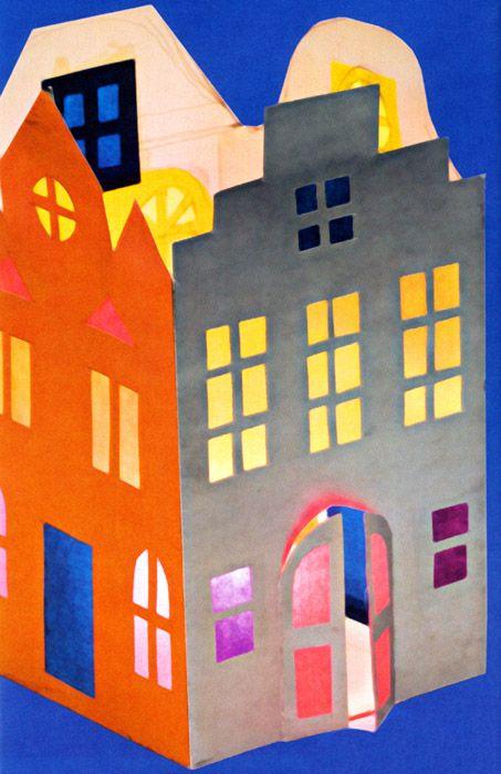 huis knutselen met kleuters / Бумажный фонарик «Домик»