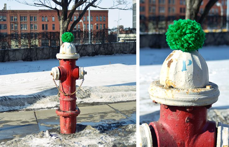 In the spirit of yarn-bombing, now comes Street Beanies - Carmichael Collective