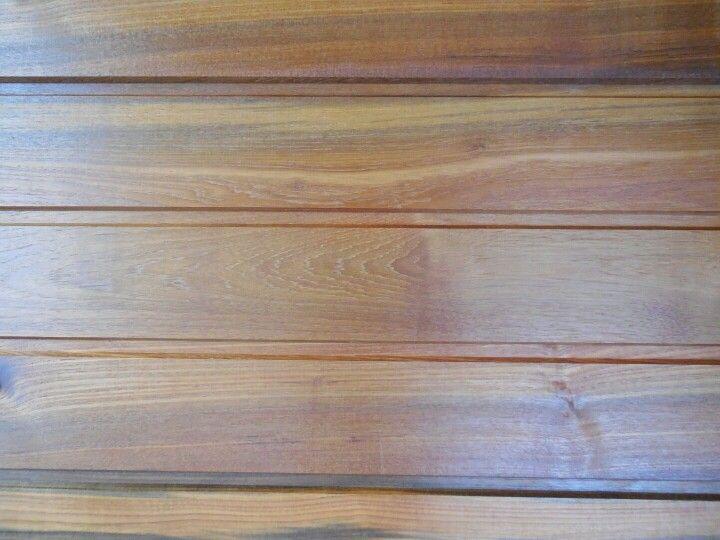 Reclaimed teak, wall siding
