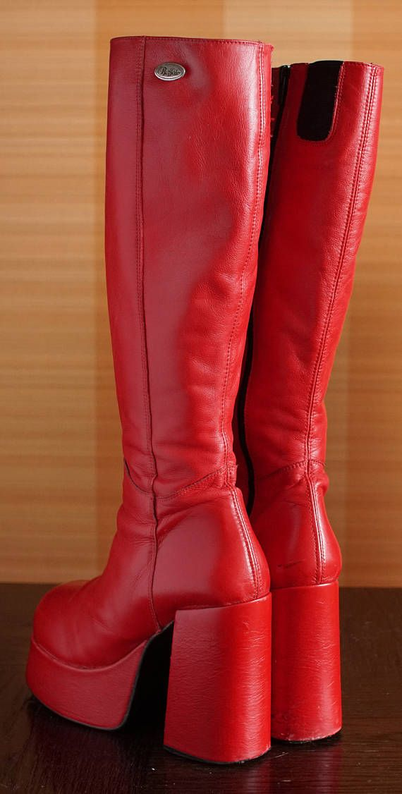 BUFFALO T24400 CULT 38 platform boots red 90 s Club Kid Grunge 90s ... bf47a868d9