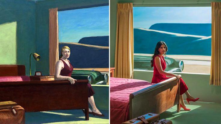Ce musée a transformé un tableau d'Edward Hopper en véritable chambre d'hôtel en 2020 (avec ...