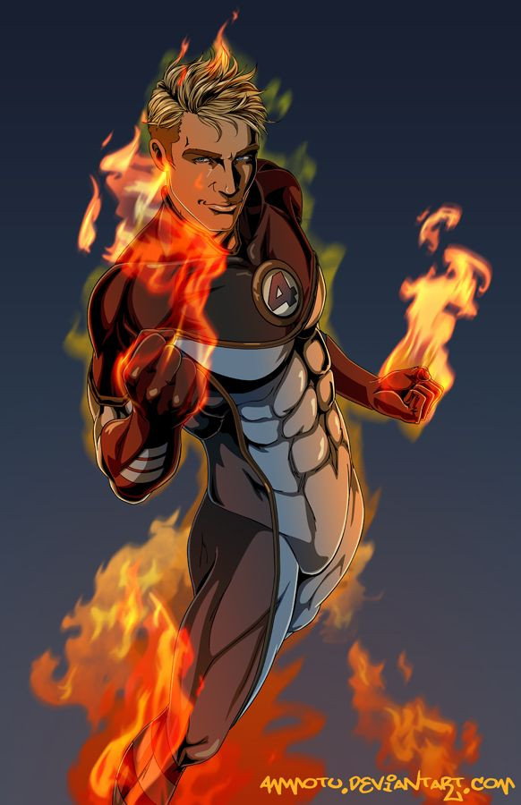 the Human Torch by Ammotu.deviantart.com on @DeviantArt