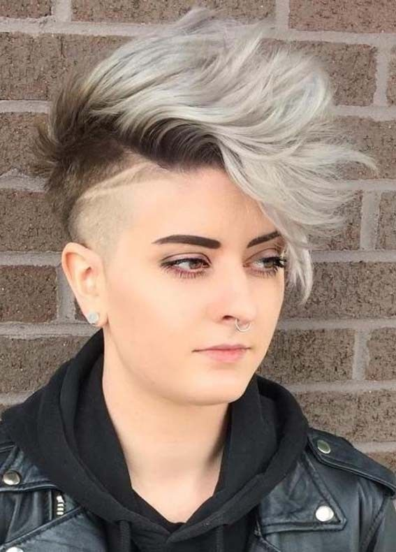 9 Modern Short Hairstyles For Thick Hair In 2019 Undercut Hairstyles Thick Hair Styles Half Shaved Hair