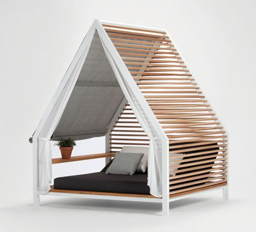 Outdoor Lounge Bed by Patricia Urquiola for Kettal - via @Design Milk