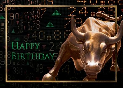 31 best financial birthday greetings images by wall street greetings emerging bull birthday emerging bull birthday cards for the finance industry and business professionals m4hsunfo